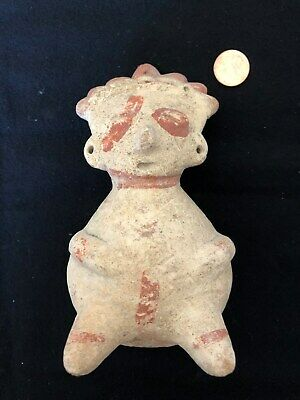 Pre-Columbian Nayarit Chinesco Rattle Figure, 100 BC - 250 AD, NICE!