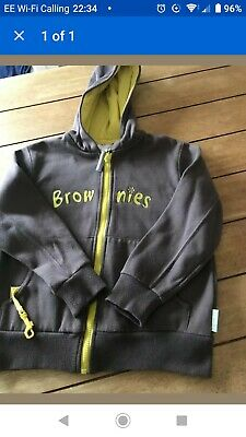 girls brownie uniform hooded top/hoodie size 34 Inches ( Age 8)
