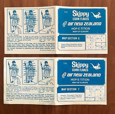 Sanitarium Skippy cornflakes Air New Zealand hop-e-tition map of Europe