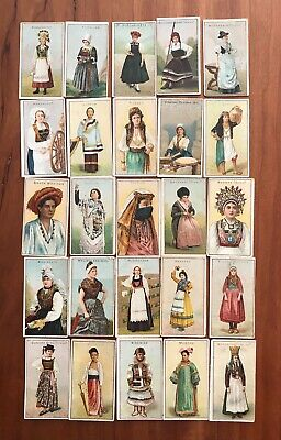 Wills girls of all nations Cigarette cards