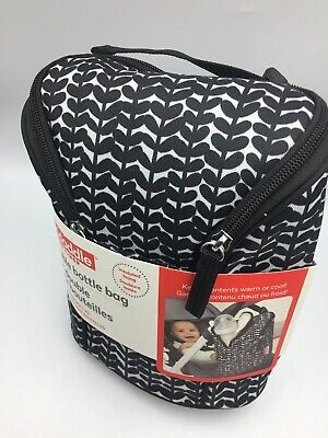 Skidaddle BABYS Double BOTTLE BAG INSULATED keeps Warm Or CoId inc Freezer Pack
