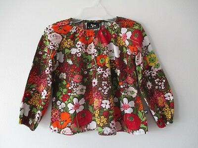Girls Llum Multi Color Floral Printed  Long Sleeve Flare Bottom Top Size 8 Yrs