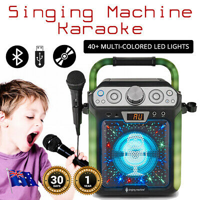 Karaoke Singing Machine Groove Cube Karaoke System Streaming CDs CDGs Bluetooth