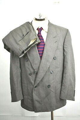 Perry Ellis Mens Size 48 Virgin Wool Professional Business Suit Jacket Pant Set