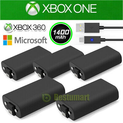 Bulk For Xbox One X S Play&Charge Kit Rechargeable Battery Pack&Charging Cable