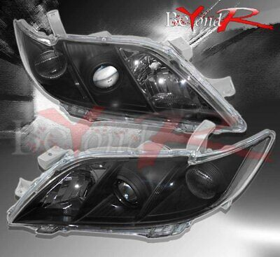 Brand New 2007-2009 For Toyota Camry Jdm Projector Lens Black Headlights Pair