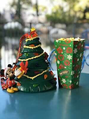 2019 Mickey Mouse Christmas Tree Popcorn Bucket With Light Up Star