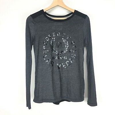 Bellagio Property Of Las Vegas Black Gray Sz Small Long Sleeve Top
