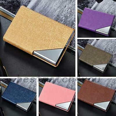 Business Name Card Holder Luxury PU Leather & Stainless Steel Multi Card Case