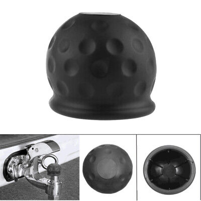 50mm Black Rubber Tow Ball Bar Towing Protect Towball Cap Cover NEW BTS