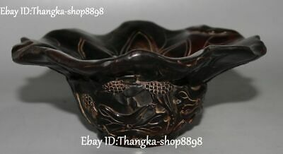 China Ox Horn OxHorn Carving Louts Flower Flowers cann Goblet wineglass cup