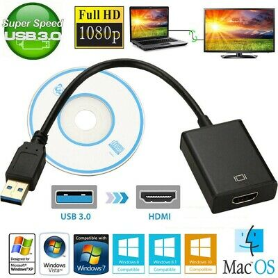 HDMI to USB 3.0 HD 1080P Video Cable Adapter Converter For PC Laptop HDTV LCD TV