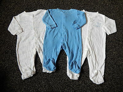 Baby Boys ~ Sleepsuits ~ Size 0-3 Months ~ Box A9