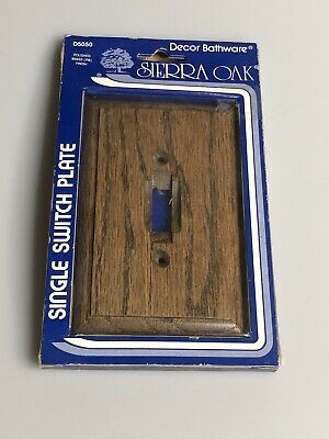 Decor Bathware Sierra Oak Single Switch Plate D5050 USA Made