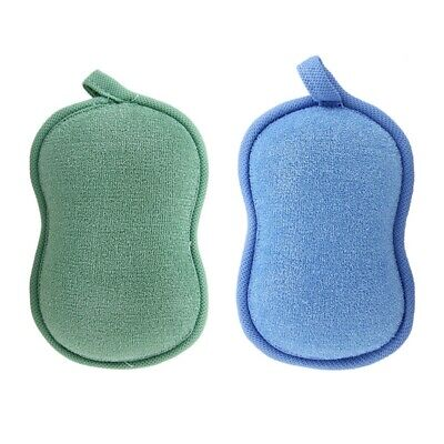 2X(BabaMate Natural Bamboo Baby Bath Sponge-2 Pack-Ultra Soft & Absorbent S N5W5