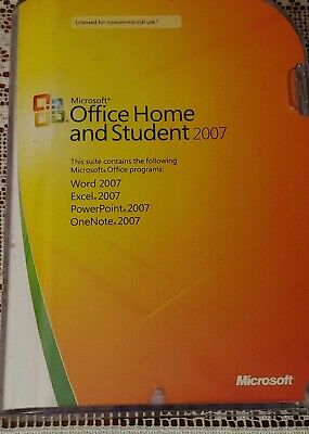 Microsoft Office Home and Student 2007 GENUINE retail 3user 79G-00007 Win 7 8 10