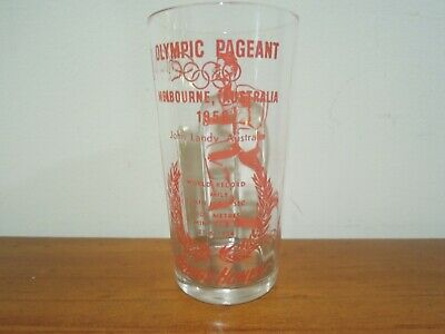 Olympic Games Collectable 1956 Melbourne Vintage Greigs Honey Glass John Landy
