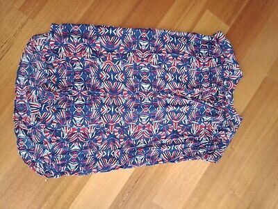 Totem Size XL Very Generous Cotton Front Button Short Sleeve Popover top dress