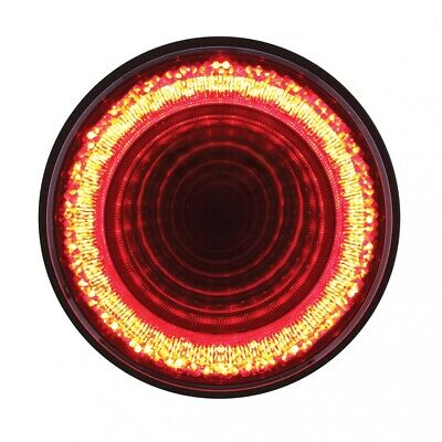 """24 LED 4"""" """"MIRAGE"""" Stop, Turn & Tail Light - Red LED/Red Lens"""