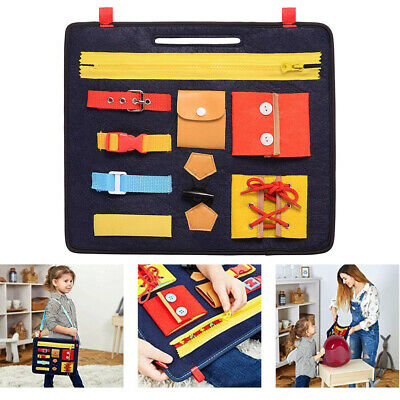 Toddler Busy Board Learning Dressing Buckle Toy Basic Skills Activity Board Toys