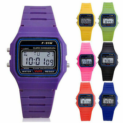 Electronic LED Digital Wristwatch Plastic Sport Casual Multifunction Rubber