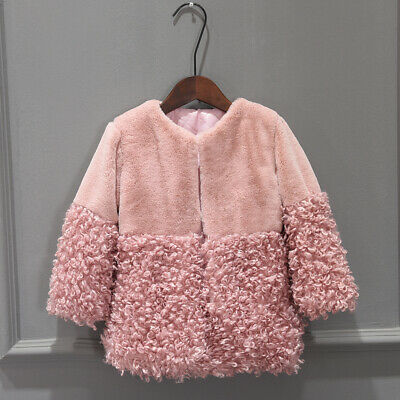 New Winter Girls Fur Coat loveliness Thick Warm Baby Girl Faux Fur Jackets Coats