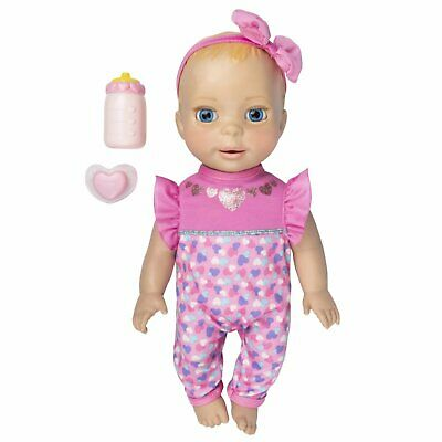 Luvabella Newborn Blonde Hair Interactive Baby Doll with Real Expressions and