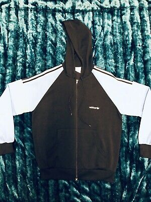 Vintage Adidas Hooded Tracksuit Top Casuals size Medium