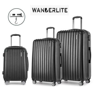 RETURNs Wanderlite 2pc Luggage Sets Suitcases Set TSA Travel Hard Case w/out 28""