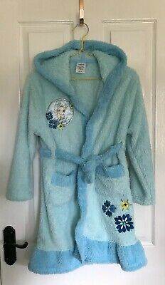 DISNEY STORE Frozen Elsa Hooded Soft Dressing Gown age 9-10