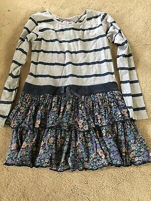 Girls Next Dress Age 8 Years - Striped long sleeves top joint with floral skirt