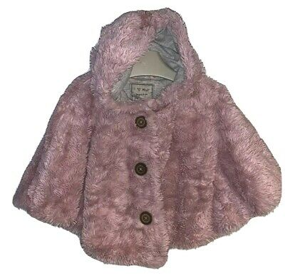 Girls Age 1-2 Years - Next Fluffy Pink Poncho
