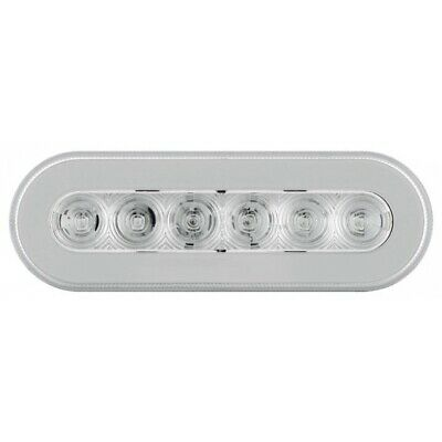 """Red Led 6"""" Oval """"Glo"""" S/T/T Light - Clear Lens"""