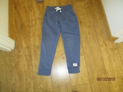 girls next 7 yrs tracky trousers airforce blue two pkts white cord pull