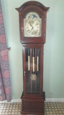 westminster grandfather clock with moon face