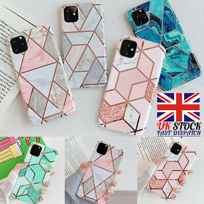 Geometric Marble Case for iPhone 11 XS MAX 11 Pro Max XR 7 8 6 Soft Pastel Cover