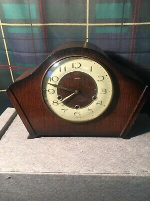 Smiths Antique westminster chime clock With Key