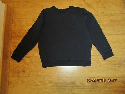 Girls/boys 9-10yrs navy blue round neck Marks & Spencer sweatshirt/jumper ex con