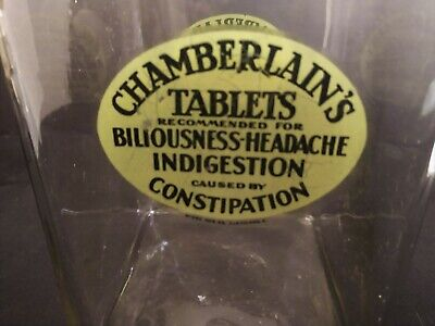 Apothecary Drug Store Jar Chamberlain's Tablets