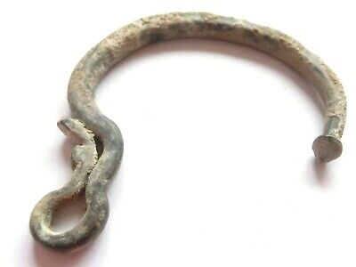 GREAT SAVE > Viking Era Bronze BRACELET +++Dragon head with Runic GIFT+++