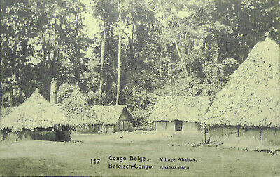 Belgian Congo Original Postcard More Than 100 Years Old With Stamp Unused