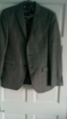 Mens Designer BEN SHERMAN 2 PIECE SUIT GREY CHECKED 40 IN CHEST TROUSERS 32 IN