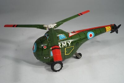 """Marx Toys - Blechspielzeug Helicopter """" Army """" mit Friktion - tinplate toy"""