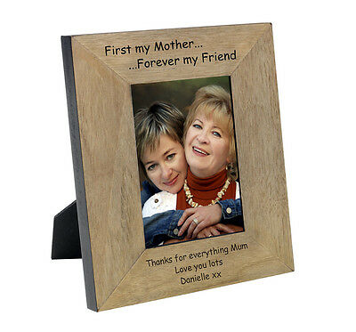 Personalised Mothers Day keepsake Photo Frame Oak Veneer Engraved #4