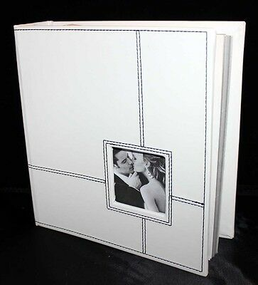 Cellini Gifts Engagement gift white black stitched Photograph album keepsake #1