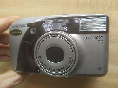 OLYMPUS SUPERZOOM 115 TESTED 35mm point & shoot film camera - CANADIAN SELLER