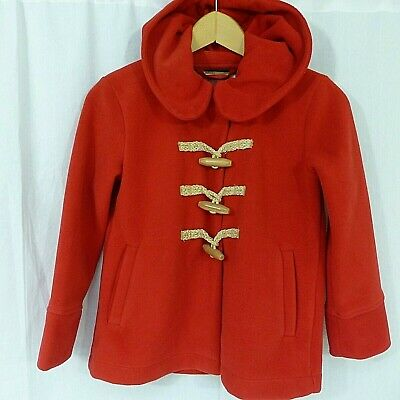 Girls NEXT red hooded winter duffel jacket coat age 10 years
