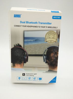 AUGUST MR 270 Bluetooth Audio Dual-Transmitter TV Sender mit aptX Low Latency