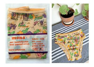 Vintage UNWORN 1960s Deadstock Knickers Briefs Horse Polo Print High Waist 8 10
