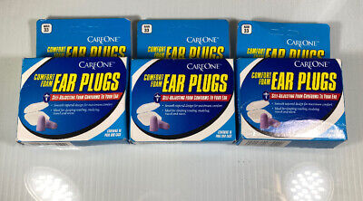 CareOne Comfort Foam Ear Plugs (3Packs);Contains 10pair+case Each        4